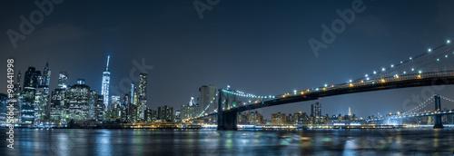 Obraz na Plexi new york cityscape night view from brooklyn