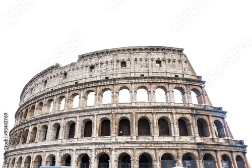 Colosseum in Rome, Italy isolated on white..
