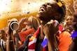 stadium soccer fans emotions portrait