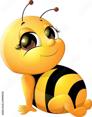 Zdjęcia na płótnie, fototapety, obrazy : beautiful bee on a white background