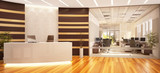 Fototapety Modern and large office with reception