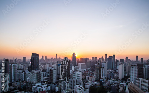 mata magnetyczna this is Cityscape and sunset at evening time