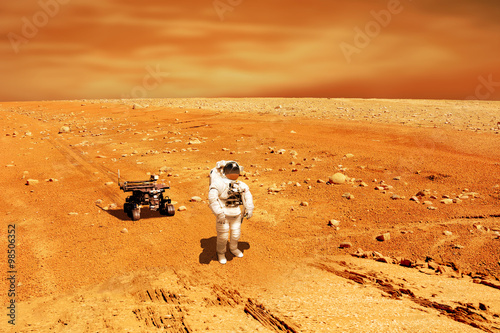 Martian Explorer No.1h - Elements of this image furnished by NASA - 98506352