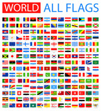 All World Vector Flags. Vector Collection of Flat Flags. - 98507913