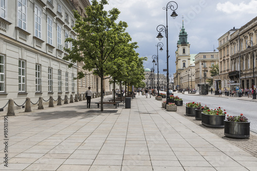 WARSAW - JULY 09: Holy Cross Church built between 1679-1696 in B