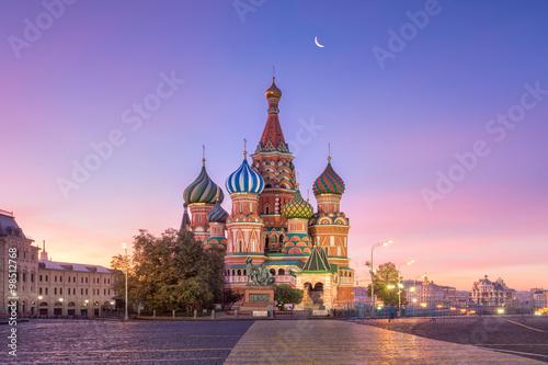 Staande foto Moskou Собор Василия Блаженного