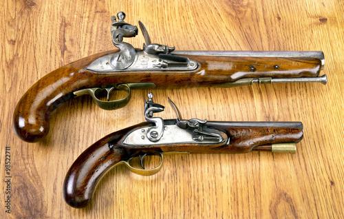 Poster Real Flintlock Pistols.