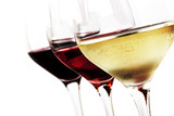 Wine Glasses over White - 98527741