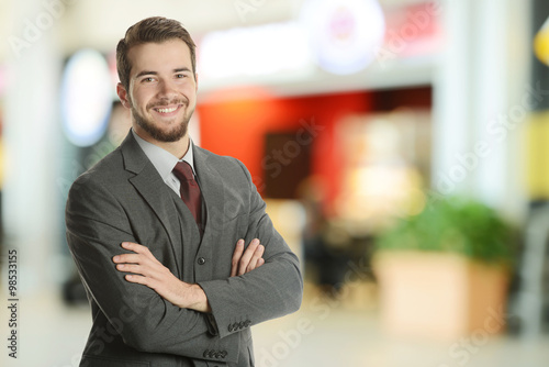 Young Businessman at the airport