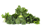 Leafy Green Vegetables Isolated - 98534570