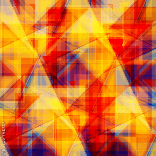 Fototapeta Vector abstract background. Consists of geometric elements. The elements have a triangular shape. In color.