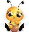 Obrazy na płótnie, fototapety, zdjęcia, fotoobrazy drukowane : beautiful bee that eats honey