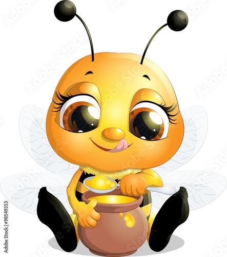 Zdjęcia na płótnie, fototapety, obrazy : beautiful bee that eats honey