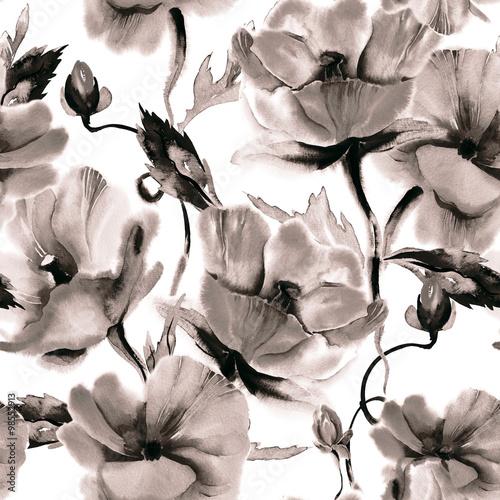 Floral Seamless Pattern - 98552913
