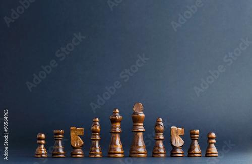 Fotografiet Wooden Chess Figurines