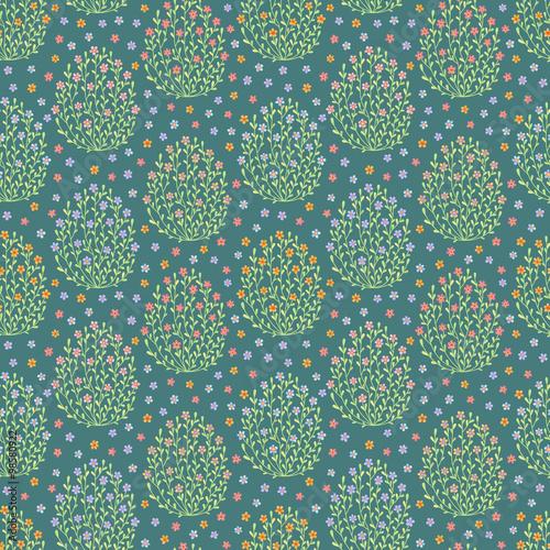 Materiał do szycia Seamless pattern with flowers
