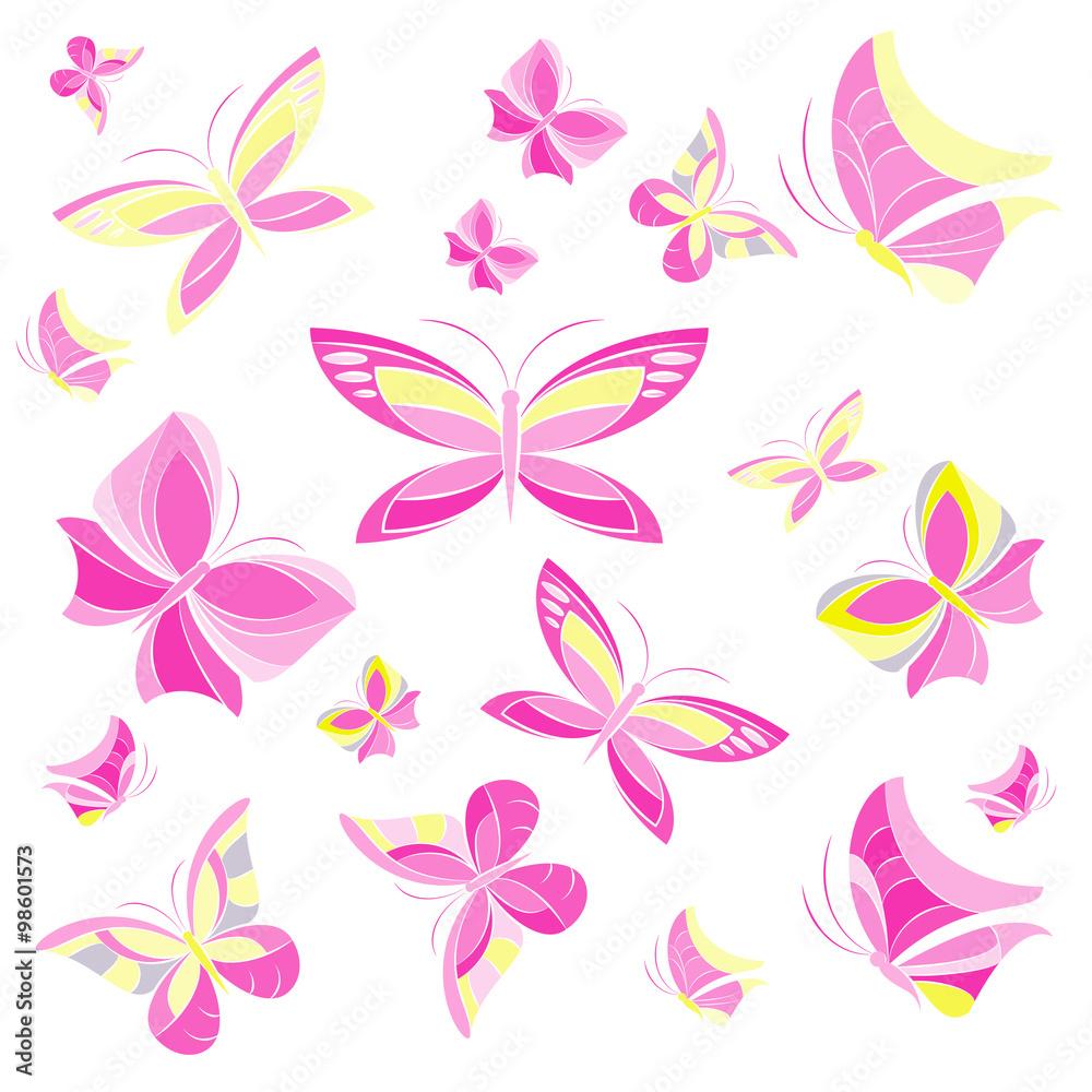 karta różowy fiołek - powiększenie