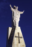 "Vista nocturna Monumento Sagrado Corazón de Jesús, Monte Naranco, Oviedo, Asturias. 98616752,Electric transformer station."""