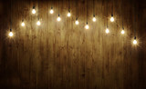 Light bulbs on wood