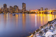 Vancouver, British Columbia, Canada skyline across the water at