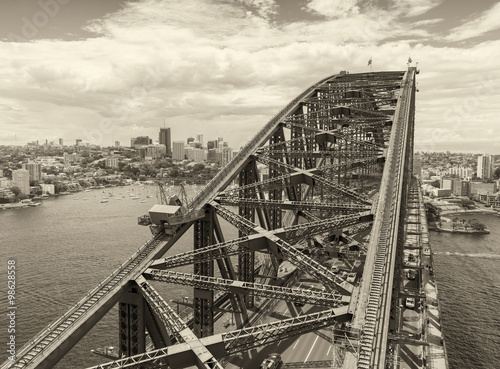 Poszter Aerial view of Sydney Harbour
