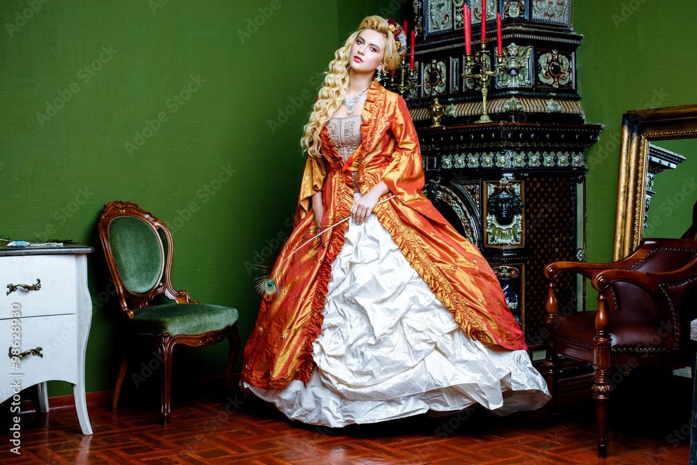 barok królowa starodawny - powiększenie