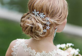 Fototapety Bride hairstyle with decoration