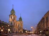 Fototapety Nowy Swiat (New World) street in Warsaw. Poland
