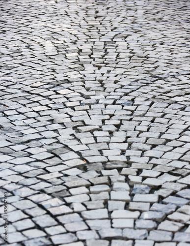 cobblestone paving Poster