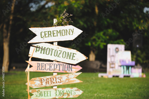 Foto Murales Wooden Wedding Pointer