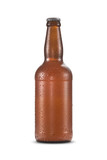 Garrafa de cerveja gelada com gotas