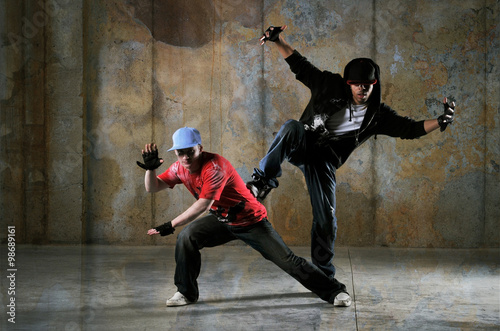 Two hip-hop dancers performing Poster