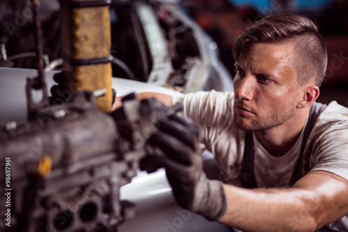 Hard working mechanic Poster
