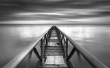 Fototapety Bridge to the infinitive point over a sunset