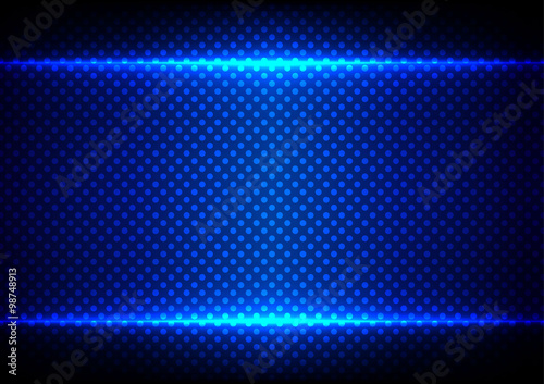 abstract blue light concept with dot pattern background.illustra
