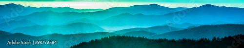 Fototapeta Smoky mountain ridges