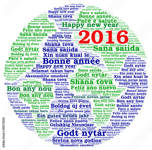 "New Year 2016 in different languages "" Stock photo and royalty-free ..."