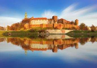 Royal castle of the Polish kings on the Wawel hill, Kwakow, Poland