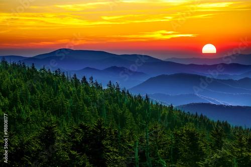 mata magnetyczna Smoky mountain sunset