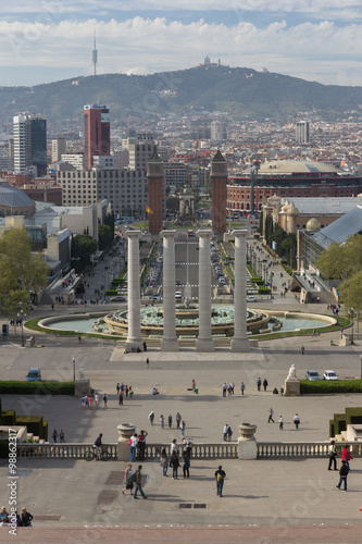 BARCELONA - April 10 2013 : View of Camp Nou stadium before the Poster