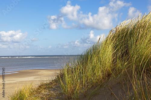 Leinwanddruck Bild Strand und Dünen