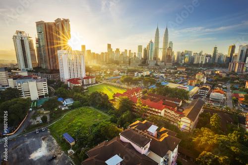Deurstickers Kuala Lumpur Kuala Lumpur, Malaysia - December 27, 2015. The KLCC Twin Towers