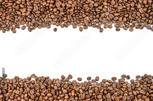 Papiers peints Café en grains Fragrant coffee beans in large quantities