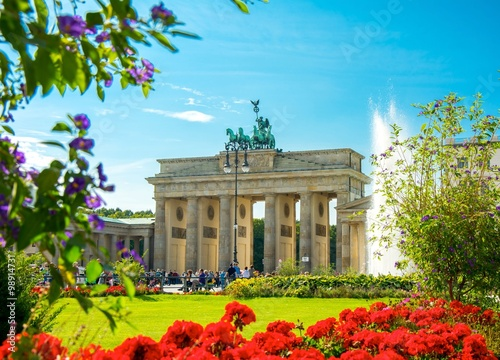 porte de brandebourg brandenburg gate brandenburger tor berlin germany poster sold at. Black Bedroom Furniture Sets. Home Design Ideas
