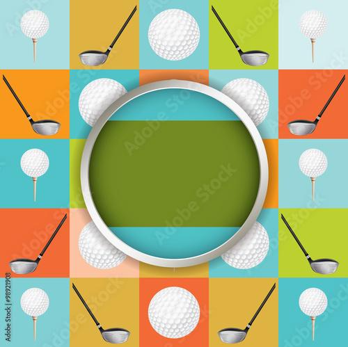Fototapeta Vector Golf Tournament Illustration