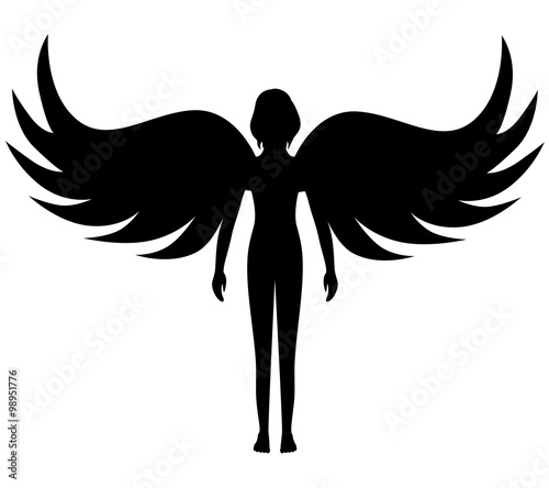 Silhouette angel