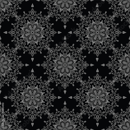 Abstract Seamless Pattern. Vintage Ornament Pattern. Islamic, Ar - 98954110