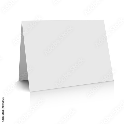 3d white blank paper card