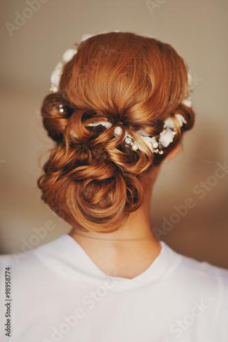 Fototapeta Прическа невесты