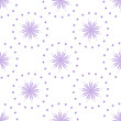 Materiał do szycia Seamless vector pattern with blue flowers